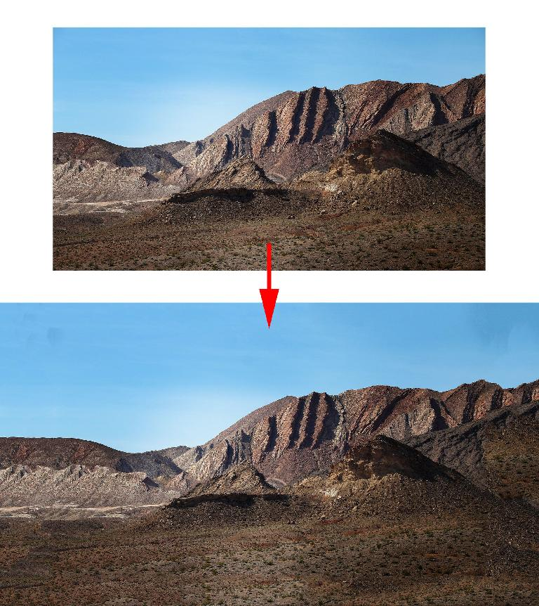 The Before and After of this image, created with Content-Aware Crop, is impressive for a one-shot operation