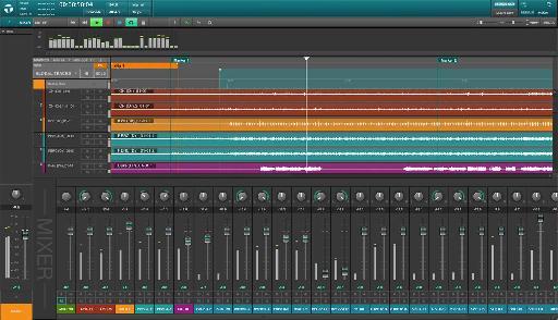 Waves Tracks Live interface.