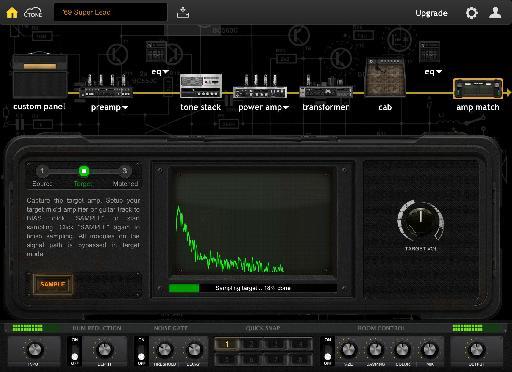 BIAS Desktop Amp Matching screen.