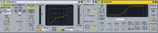 Compressor, Redux and Saturator effects