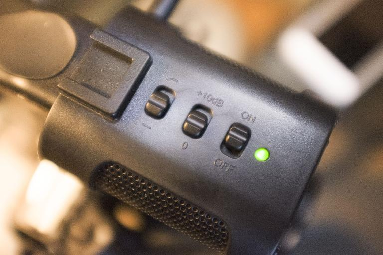 The mic controls