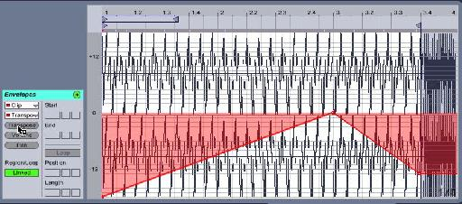 Tie the transposition to the audio part