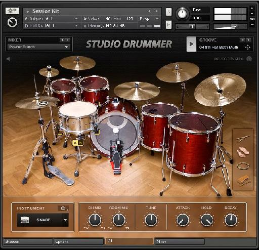 Studio Drummer, with over 2500 professional grooves.