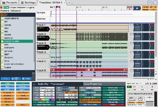 Tracktion User Interface