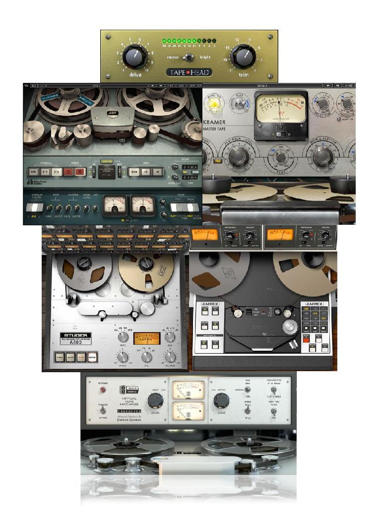 Some tape emulation plug-ins