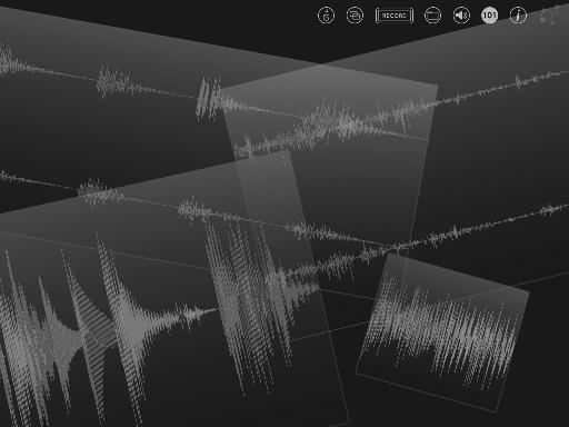 Audio files can be laid out in any configuration on the screen.