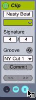 E button in Clip View