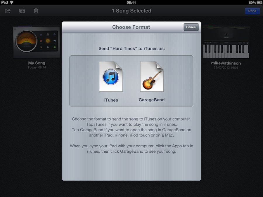 How to send someone a garageband project