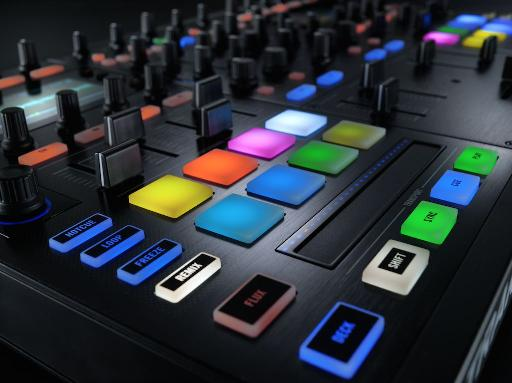 Native Instruments Traktor Kontrol S8 close up.