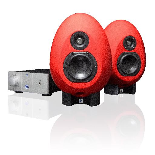 The SonicMunro Egg 100s with the included control and amplifer.