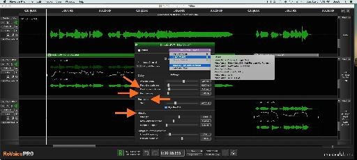 Fig 7 The various modulation options in the Doubler Process Settings window; custom settings can be saved as User presets or as a User Default.