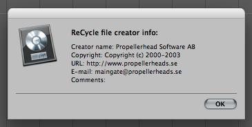 Some very interesting info about Propellerhead's Copyright