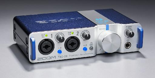 Audio and MIDI Thunderbolt interfaces don't get much more portable and cute than the Zoom TAC-2R.
