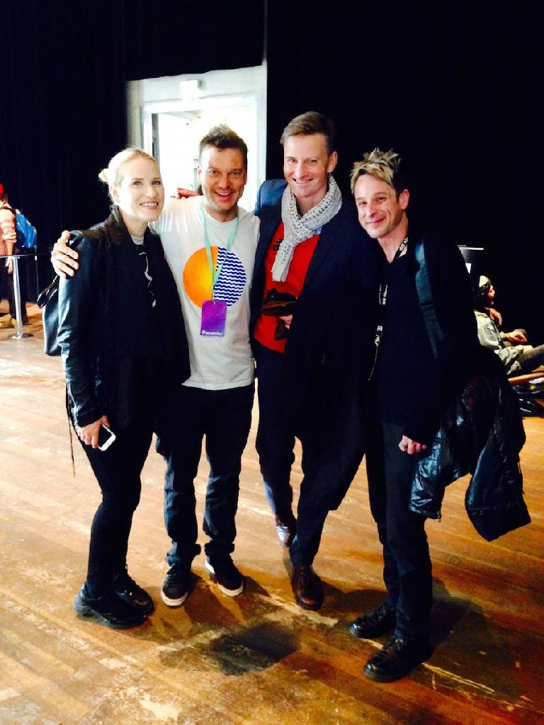 Timo Preece (right) next to Gerhard Behles (Ableton CEO) & Laura Escude (left)