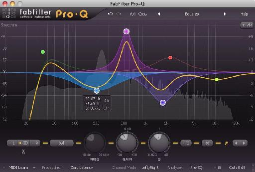 Fabfilter's Pro-Q also supplied various Linear Phase modes