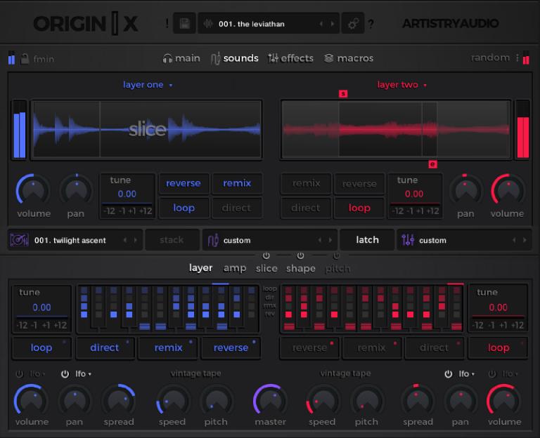 Origin X GUI