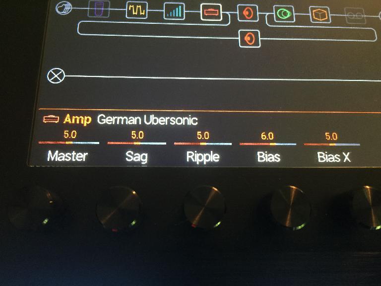 Amp settings on home screen