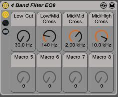 4-band filter EQ8