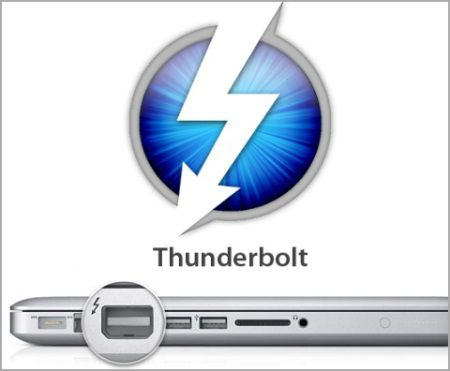 Thunderbolt ports can already be found on most current Macs