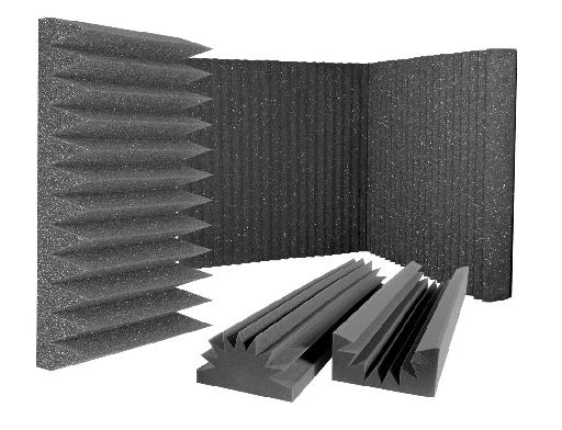 Fig 2: Some typical absorptive foam panels (courtesy of Auralex.com).