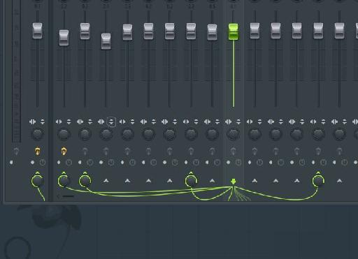 Visual routing in the mixer.