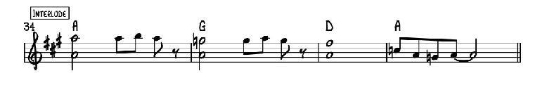 Reading a Lead Sheet: melody