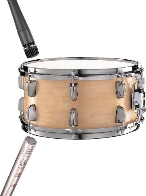Fig 3 Top & Bottom Snare drum mics