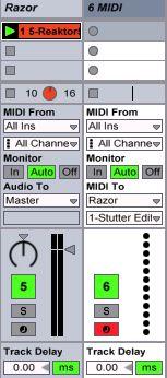 MIDI To going to the Razor track.
