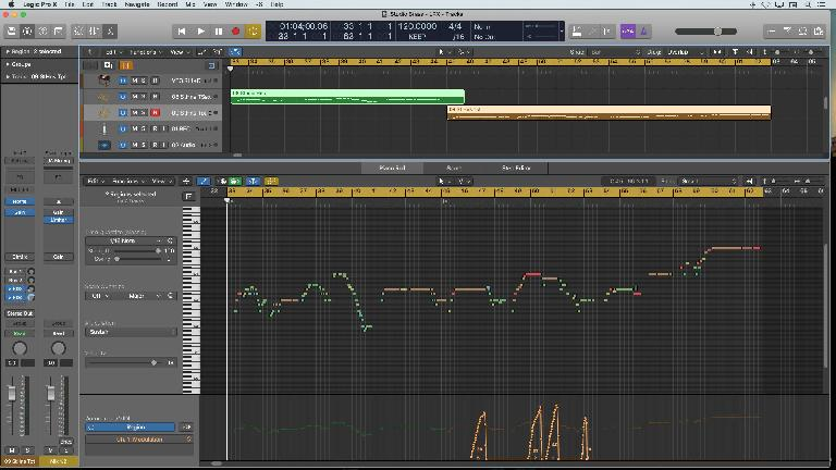 Logic's Piano Roll Editor