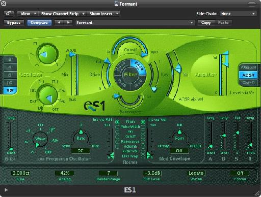 Sawtooth settings for ES1