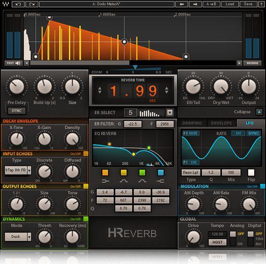 Waves Audio H-Reverb plug-in.