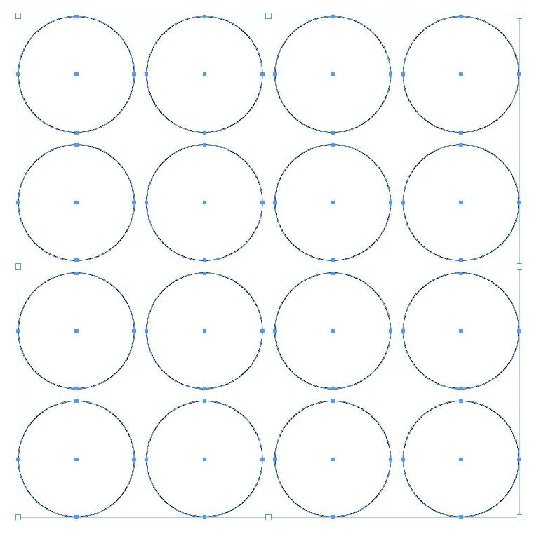 This time, a grid of circles instead