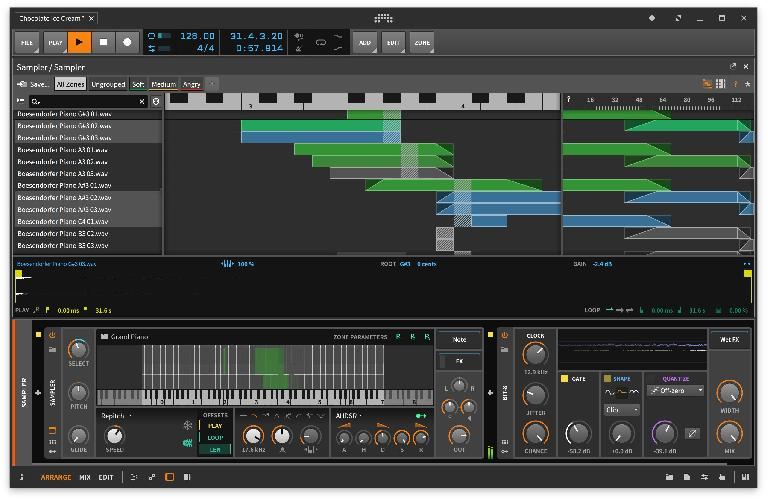 Bitwig Studio 2.4 Multisample editor