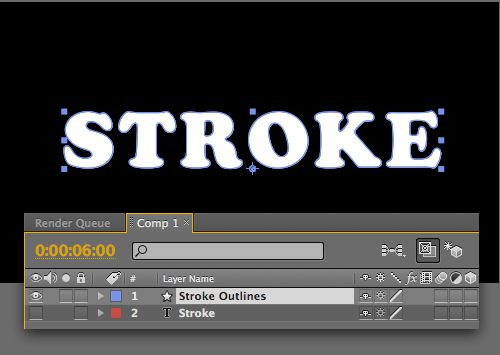 AE creates new layer 'Stroke Outlines'