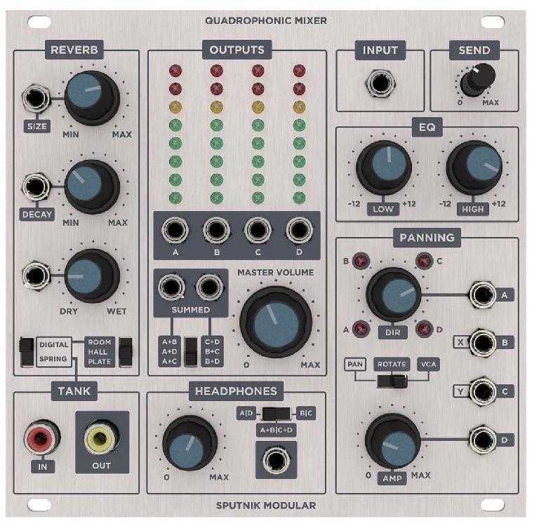 Quadraphonic mixer