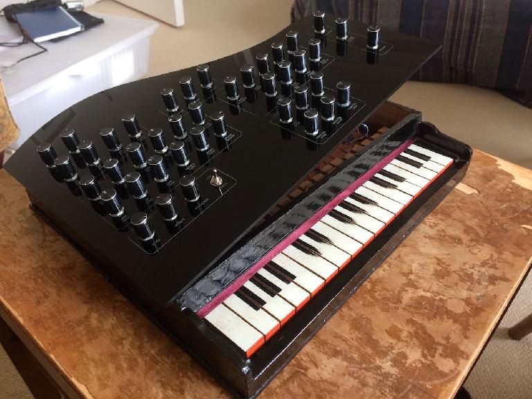 The 'Vintage Toy Synthesiser' – a wooden toy piano converted into a digital synth.