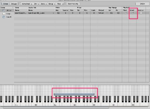 Pic 10: Make sure the sample plays from beginning to end by checking 1shot.