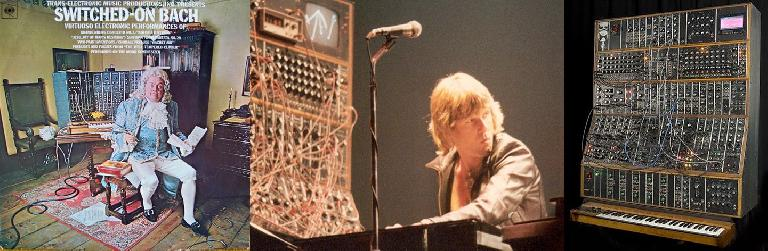 Switched-On Bach (L); Keith Emerson & his Moog Modular (R)