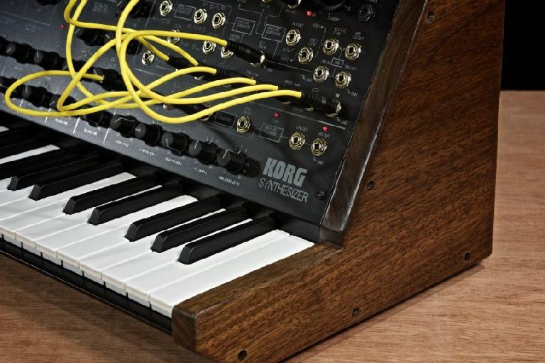 Korg MS-20 Mini wooden side panels.