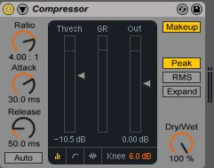 punchy drum compressor settings