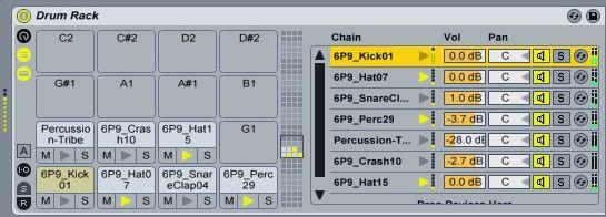 Ableton Live 9 drum rack.