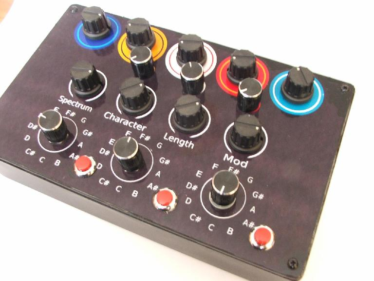 Not in production yet, this controller is designed to fully interact with NI's Flesh synth.