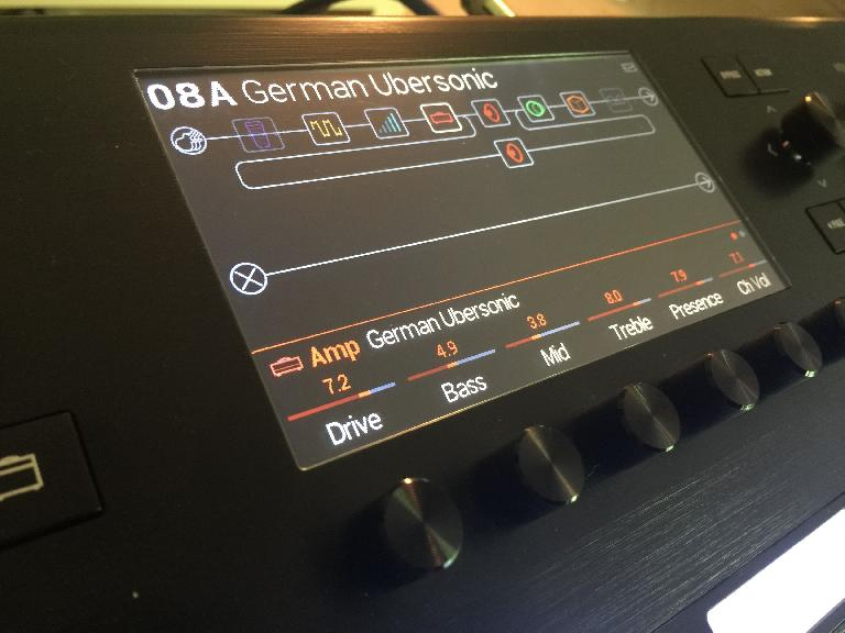 Line 6 Helix home screen