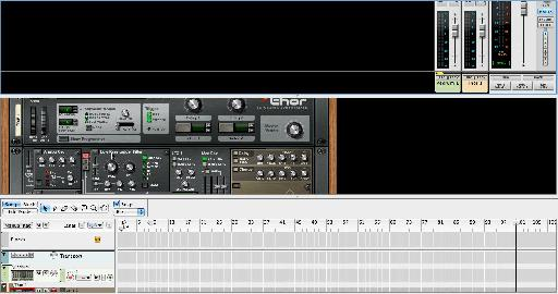 The Mixer, Rack, and Sequencer, Screens