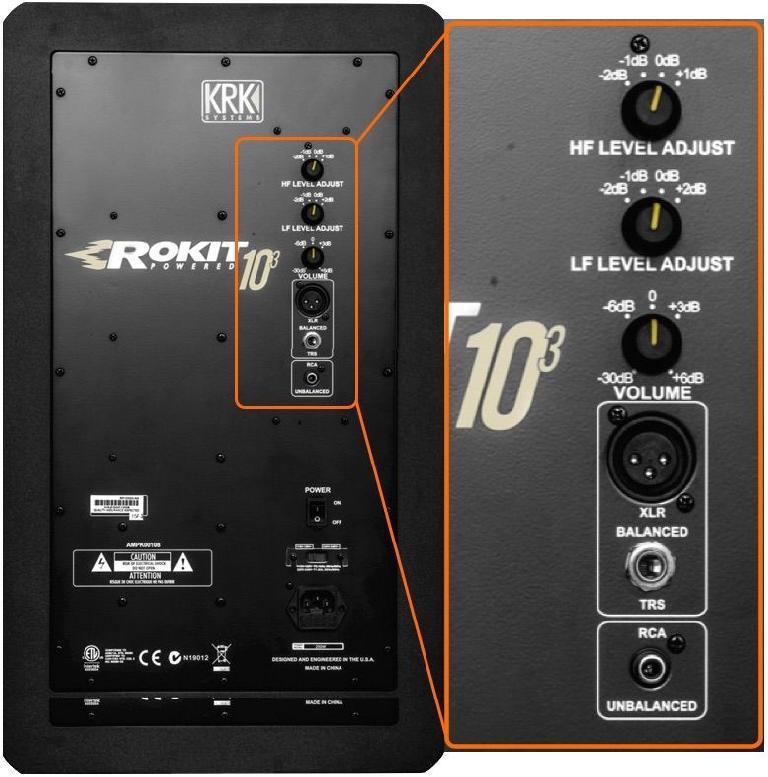 The ROKIT 10-3 rear panel