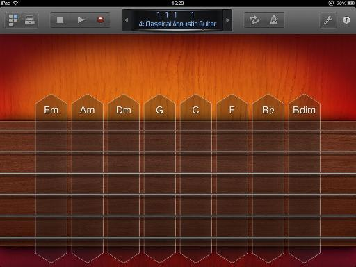 Guitar instrument interface.