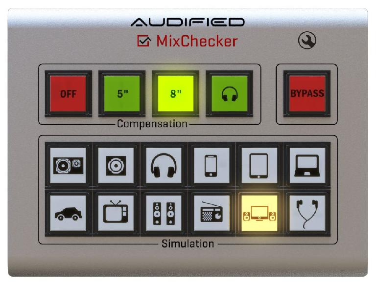 Audified's MixChecker interface is clean, clear and intuitive.