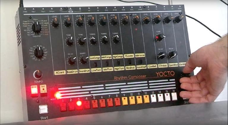 Yocto Roland TR-808 clone drum machine.