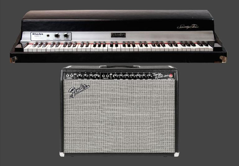 Fig 4 Guitar amps like the Fender Twin Reverb are often pressed into service for instruments other than guitar, like classic electric pianos (Fender Rhodes, Wurlitzer, etc), harmonica, and even (as an effect on) voice
