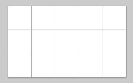 Grid displayed